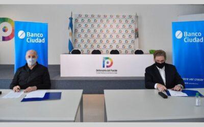 Por la educación financiera porteña: acuerdo entre la Defensoría del Pueblo y el Banco Ciudad
