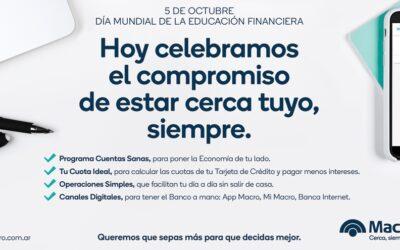 Día mundial de la Educación Financiera: Banco Macro lo celebra con talleres y más canales digitales